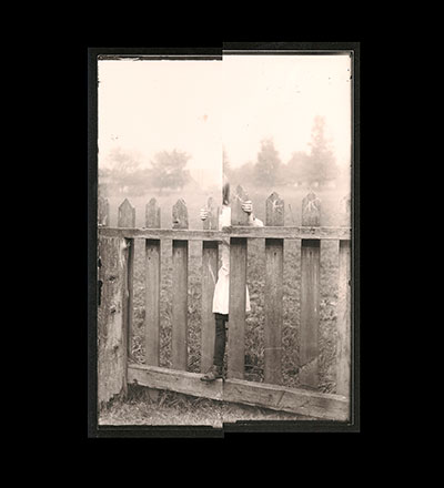 Untitled (Arla Harkness on Fence) Print